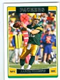 Aaron Rodgers football card (Green Bay Packers) 2006 Topps #84 Rookie Season. rookie card picture