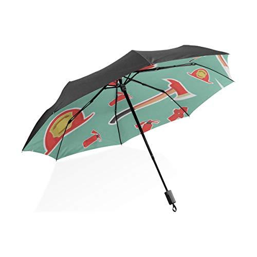 Große Regenschirme Für Regen Nette Kreative Cartoon Feuerlöscher Tragbare Kompakte Taschenschirm Anti Uv Schutz Winddicht Outdoor Reise Frauen XL Tote Regenschirm