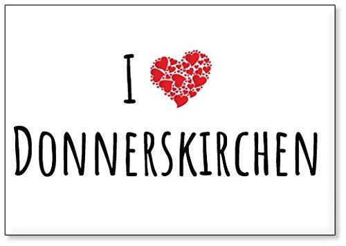 M&us Souvenirs - Ich Liebe Donnerskirchen, Kühlschrankmagnet (Design 2)