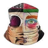 N / A Johnny Depp Character Collage Unisex Sciarpa al Collo Versatili Passamontagna Traspirante Sciarpa A Tubo per Snowboard Arrampicata Motocicletta