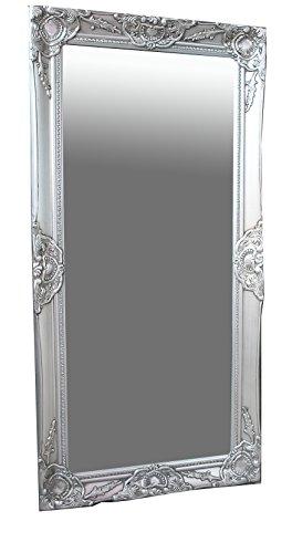 B.U.S. Wohnstyle GmbH Spiegel Wandspiegel antik Silber Barock Melina 100 x 50 cm