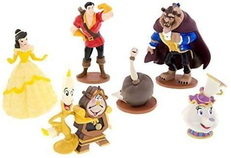 Disney Parks Exclusive - Cake Topper Figures - Beauty and The Beast