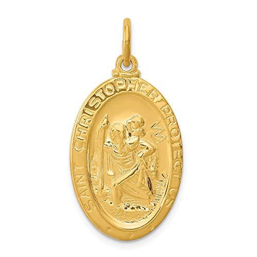 Saris and Things 925 sterlingsilber 24k vergoldet Sterling Silber christophorus-Medaille