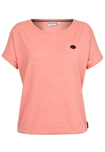 Damen T-Shirt Naketano Schnella Baustella III T-Shirt,coral red melange,XS