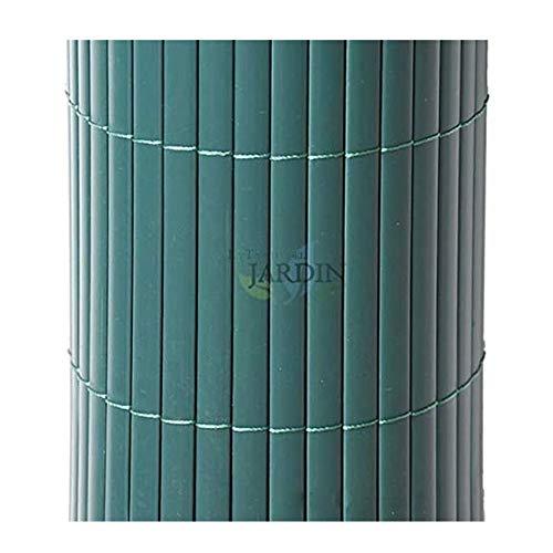 Suinga CAÑIZO de OCULTACIÓN PVC verde 2 x 5 m, unidas por hilo nylon cada 10 cm.