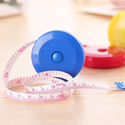 Geen meetinstrument 1,5 m plastic wekker mini automatisch intrekbaar bandgrootte kleur willekeurig levering (4 stuks)