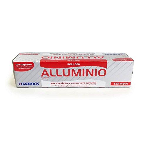 Film rotolo alluminio larghezza cm 30 lunghezza mt 125 con astuccio