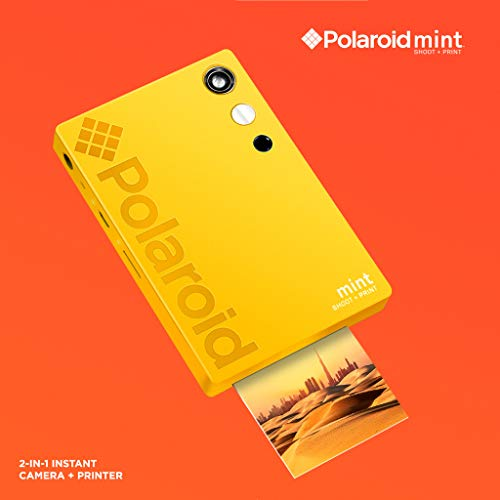 Polaroid Mint Instant Digital Camera (Yellow) Basic Bundle + Paper (20 Sheets) + Deluxe Pouch