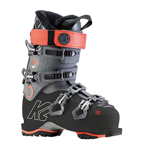 K2 Skis Damen BFC W 90 Skischuhe, Anthracite - Coral-Rot, 41 EU (26.5 Mondo)