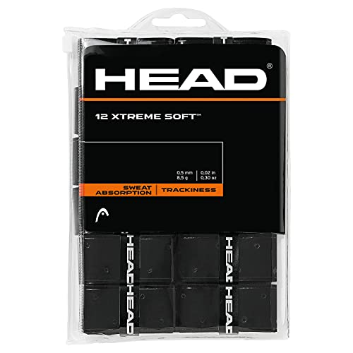 HEAD Xtreme Soft Overgrip, Black, 12-Pack