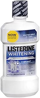 Listerine Whitening Anticavity Mouthwash, Vibrant, Clean Mint 16 oz (Pack of 3)