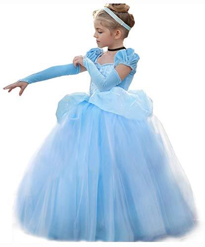 Cinderella Dress Princess Costume Halloween Party Dress up Blue