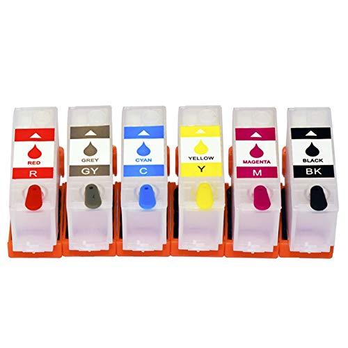 WSCHENG 6COLOR 312 314 312XL 314XL Cartucho de Tinta de Recarga Sin Chip para EPSON XP-15000 XP15000 XP 15000 Impresora