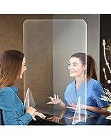 卓上パーテーション透明 飛沫防止 厚みアクリル板 間仕切り 屈折のない高精細 デスク用スクリーン 仕切り板 衝立 飲食店 オフィス 学校 食堂 社食 角丸加工 組立式 窓なし 幅400x高さ400mm 幅600x高さ600mm