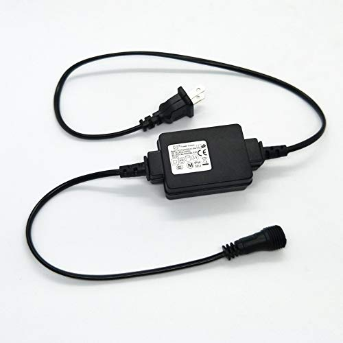 LED Transformer 24V LED Controller Class 2 Power Supply, IP44 Waterproof Low Voltage Transformer US Plug For Christmas Light, String Light Indoor Outdoor Use