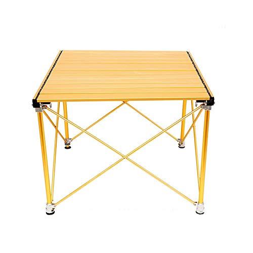 JCCOZ -T Mesa plegable de aluminio para camping, mesa portátil plegable para interior y exterior, pícnic, senderismo, viajes, pesca, T