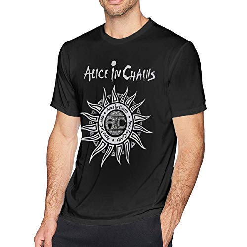 AYYUCY Camicie e T-Shirt Sportive Top e Bluse Mens Fashion Alice in Chains T-Shirt Black