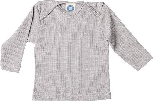 Cosilana, Baby Schlupfhemd Langarm, 45% KBA Baumwolle 35% kbT Wolle, 20% Seide (86/92, Grau meliert)