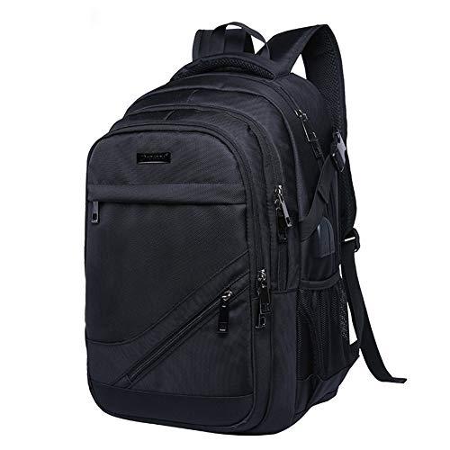 Rucksack Herren Rucksack Schule Laptop Rucksack für Herren Damen Daypacks für 15.6 Zoll Laptop Business Rucksack mit USB Ladeanschluss, Oxford, 32L (Schwarz rot Blau) (B3Schwarz)