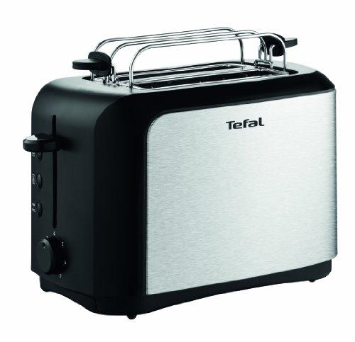 Tefal TT3565 Toaster (7 Bräunungsstufen, Brötchenaufsatz) schwarz/edelstahl