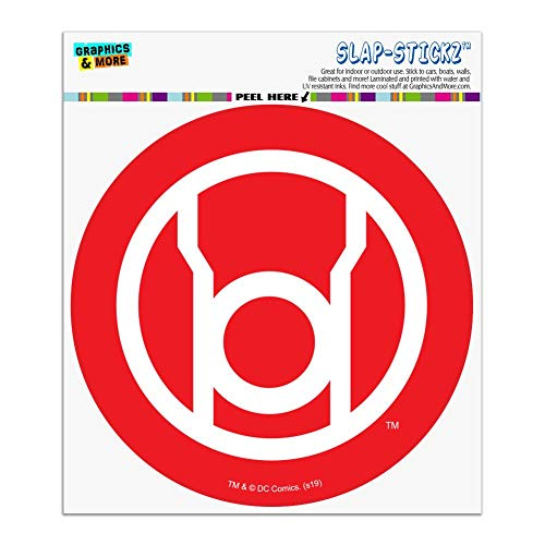 Graphics and More Green Lantern Blackest Night Red Lantern Logo Automotive Car Window Locker Circle Bumper Sticker