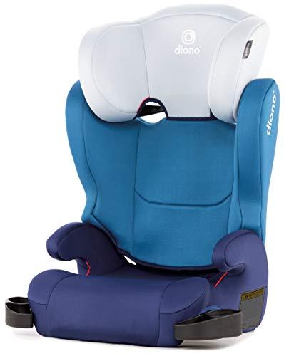 Diono Cambria 2, verlängerbarer Kindersitz mit hoher Rückenlehne, Kopfstütze mit 6 Positionen, Gruppe 2/3 (18–54 kg), Blau