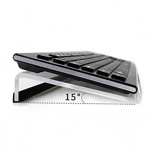 NewCrea Supporto per tastiera inclinato ergonomico, per videogiochi e digitazione