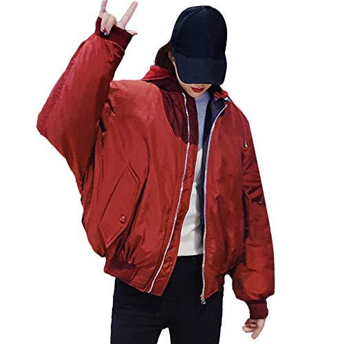 Deelin overmaatse stijl, kort, dames, modieus, zacht, winterjas, dubbelzijdig, met capuchon, eenkleurig, kort, ritssluiting, jassen, mantel, trainingspak