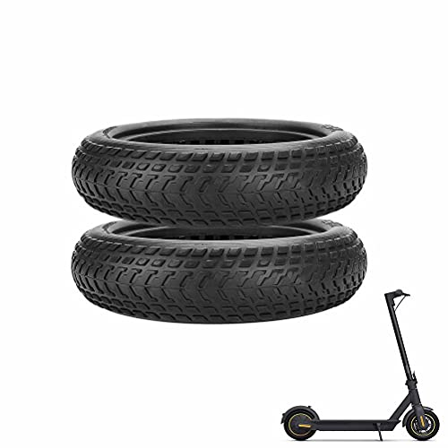 HGTRH Solid Tire Replacement for Electric Scooter M365, 8.5x2 Solid Scooter Tire, Electric Scooter Wheels Explosion-Proof High Elastic Compatible with Xiaomi M365 Scooter, Set of 2