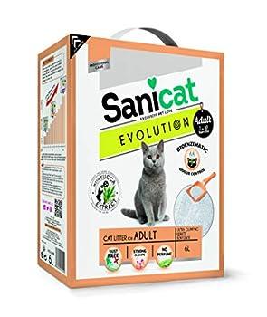 Sanicat Litiere Evolution Adult 6L - pour Chat Adulte,