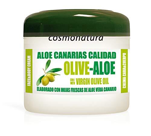 Aloe Canarias Crema Hidratante Cara y Cuerpo con Aceite de Olive Virgen y Aloé Vera 100% 300ml