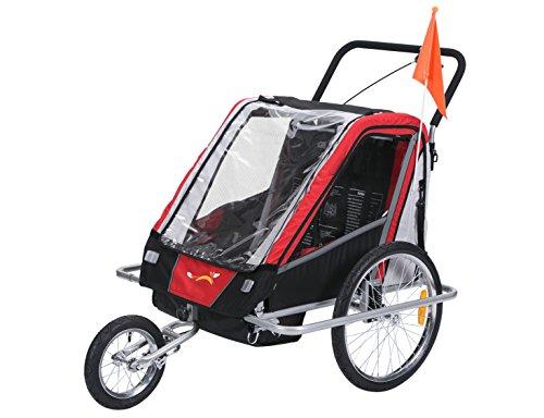 Fiximaster multifunktion 2 in 1 Fahrradanhänger/Jogger Babywagen Transportwagen Handwagen Rot BT503 NEU