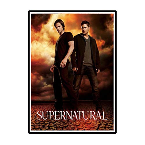 QQWER Posters and Prints Supernatural Tv Series Hd Sam Dean Winchester - Hot Gift Art Poster Canvas Painting Home Decor -50X70Cmx1Pcs -No Frame