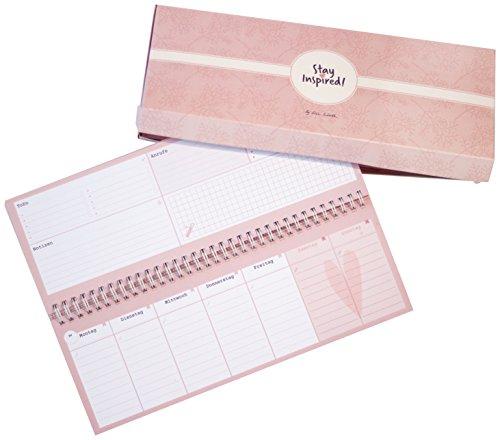 Tischkalender 2020 / Wochenkalender im Quer-Format / 52 Wochen, 1 Woche 2 Seiten / Tisch-Querkalender ohne festes Datum für 365 Tage / incl. ... /verwendbar als Kalender 2020