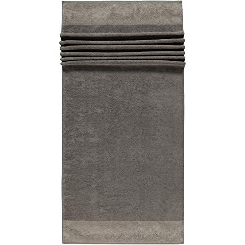 Cawö Home Handtücher Luxury Home Two-Tone 590 Graphit - 70 Saunatuch 80x200 cm