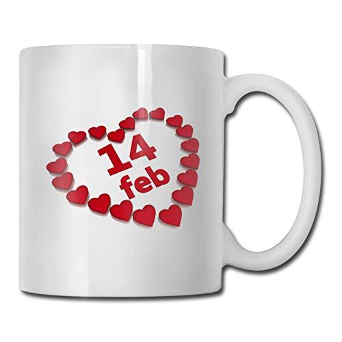 Valentine 's Day - Juego de 68 tazas de café de cerámica de 11 onzas, regalo perfecto para el hogar o la oficina, ideal como regalo de San Valentín