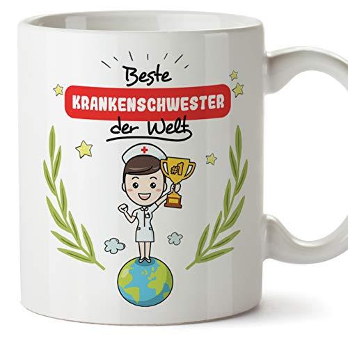 Mugffins Krankenschwester Tasse/Becher/Mug Geschenk Schöne and lustige kaffetasse - Beste Krankenschwester der Welt - Keramik 350 ml