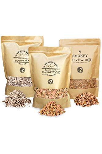 Smokey Olive Wood Sow 3X 1700mL Selección de virutas de Mad