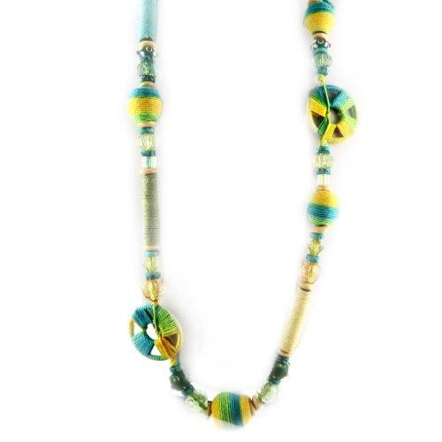 Les Trésors De Lily [D1046 - Fächerkette \'French Touch\' \'Idée Créative\' gelb/blau/grün.