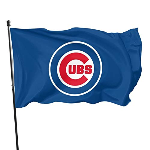 Chicago-Cub&s Flag 3x5 feet Banner Flags Decorative for OutdoorGarden Flag Polyester Fabric Fade Resistant