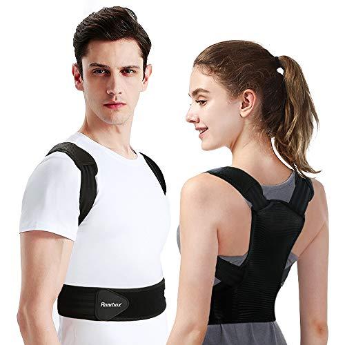 Roadbox Rücken Geradehalter,2020 Upgrade Haltungskorrektur Professionell komfortable Rücken Haltungstrainer,Verbesserung der Körperhaltung und Schmerzlinderung von Nacken Rücken Schulter