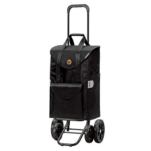 Andersen Shopper Quattro und Einkaufstasche Senta schwarz 49 Liter