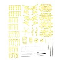 風力DIYウォーキングウォーカーストランドビーストモデルキット子供用ノベルティおもちゃ黄色