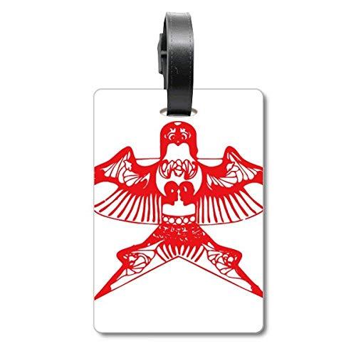 Kite - Etiqueta de identificación para Maleta de Crucero (Papel de Corte Tradicional)