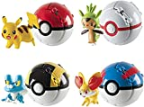 4Pcs Pocket Ball Monsters - Mini PokBalls Action Figures Master Super Set Fighting Toys - Pet Monster Action Figure Toy