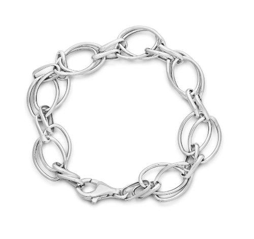 Miore Armband - Armreif Damen Kette Silberfarbig 925 Sterling Silber  19 cm