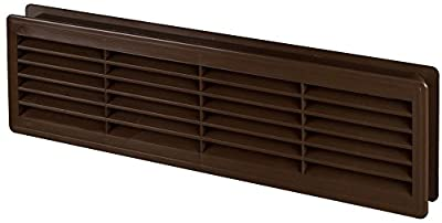 """Bathroom Door Air Vent Grille 455mm x 135mm / 18"""" x 5.3 inch Two Sided Ventilation Cover"""