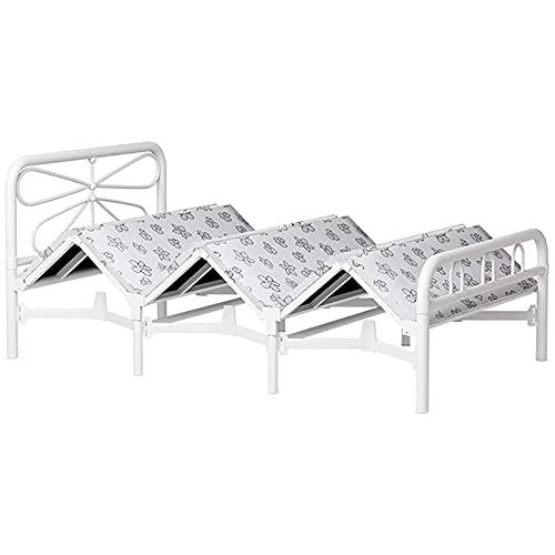 SHUILV Cama plegable de metal Cama de camping al aire libre portátil, marco de acero de alta resistencia Cama de plataforma de cama individual, cama supletoria para niños y camas de huéspedes de repue