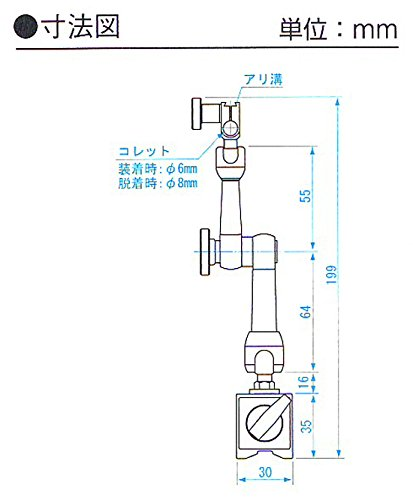 新潟精機 SK ミニマグネットベース MB-7 [2400]