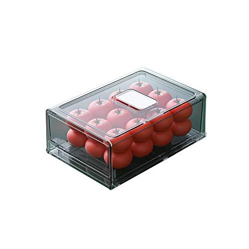 YUMEIGE Caja de almacenamiento de cosméticos Caja de almacenamiento de refrigerador de cocina, caja de cajones, caja de mantenimiento fresco, refrigerador, múltiples capas, huevo, huevo, huevo, caja d